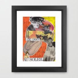 """Impression d'Art encadrée - """"Une Place au Soleil"""""""