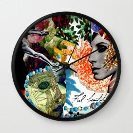 """Horloge murale - """"Feel Beautiful"""""""
