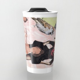 "Mug de voyage - ""Tea, coffee, or me?"""