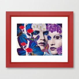 "Impression d'Art encadrée - ""The Bluemood"""