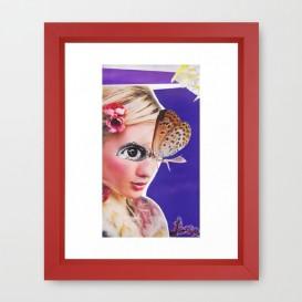 """Impression d'Art encadrée - """"The Butterfly"""""""