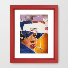 """Impression d'Art encadrée - """"Mon Oeil"""""""