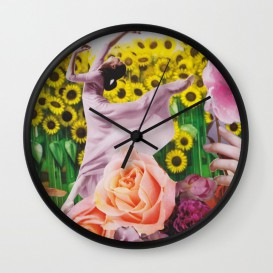"Horloge murale - ""Sunflower"""