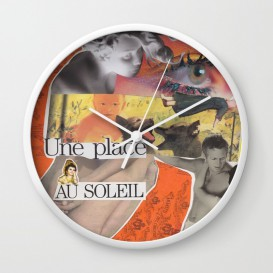 """Horloge murale - """"Une Place au Soleil"""""""