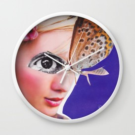 "Horloge murale - ""The Butterfly"""